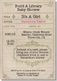 Library Card - Baby Shower Invitations