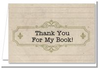 Library Card - Baby Shower Thank You Cards