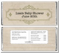Library Card - Personalized Baby Shower Candy Bar Wrappers