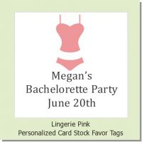 Lingerie Pink - Personalized Bachelorette Party Card Stock Favor Tags