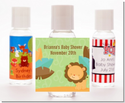 Lion | Leo Horoscope - Personalized Baby Shower Hand Sanitizers Favors