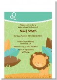 Lion | Leo Horoscope - Baby Shower Petite Invitations