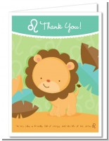 Lion | Leo Horoscope - Baby Shower Thank You Cards