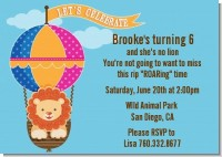 Lion - Birthday Party Invitations