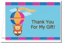 Lion - Birthday Party Thank You Cards