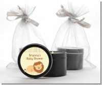 Lion - Baby Shower Black Candle Tin Favors