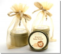 Lion - Baby Shower Gold Tin Candle Favors