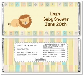 Lion - Personalized Baby Shower Candy Bar Wrappers