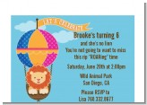 Lion - Birthday Party Petite Invitations