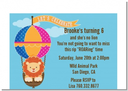 Lion - Baby Shower Petite Invitations