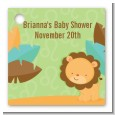 Lion | Leo Horoscope - Personalized Baby Shower Card Stock Favor Tags thumbnail