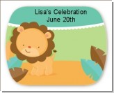 Lion | Leo Horoscope - Personalized Baby Shower Rounded Corner Stickers