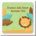 Lion | Leo Horoscope - Square Personalized Baby Shower Sticker Labels thumbnail