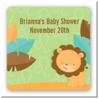 Lion | Leo Horoscope - Square Personalized Baby Shower Sticker Labels