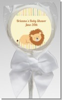 Lion - Personalized Baby Shower Lollipop Favors