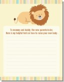 Lion - Baby Shower Notes of Advice