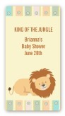 Lion - Custom Rectangle Baby Shower Sticker/Labels