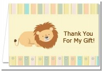 Lion - Baby Shower Thank You Cards
