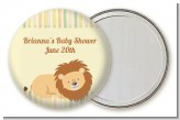 Lion - Personalized Baby Shower Pocket Mirror Favors