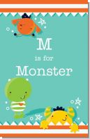 Little Monster - Personalized Baby Shower Nursery Wall Art
