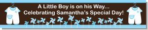 Little Boy Outfit - Personalized Baby Shower Banners