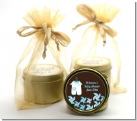 Little Boy Outfit - Baby Shower Gold Tin Candle Favors