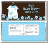 Little Boy Outfit - Personalized Baby Shower Candy Bar Wrappers