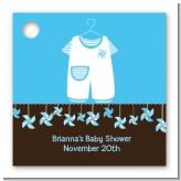Little Boy Outfit - Personalized Baby Shower Card Stock Favor Tags