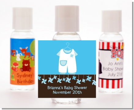 Little Boy Outfit - Personalized Baby Shower Hand Sanitizers Favors