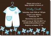 Little Boy Outfit - Baby Shower Invitations
