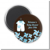 Little Boy Outfit - Personalized Baby Shower Magnet Favors