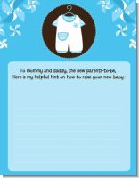 Little Boy Outfit - Baby Shower Notes of Advice