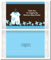 Little Boy Outfit - Personalized Popcorn Wrapper Baby Shower Favors