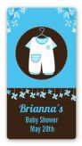 Little Boy Outfit - Custom Rectangle Baby Shower Sticker/Labels