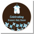 Little Boy Outfit - Personalized Baby Shower Table Confetti thumbnail
