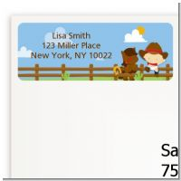 Little Cowboy - Baby Shower Return Address Labels