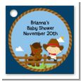Little Cowboy - Personalized Baby Shower Card Stock Favor Tags thumbnail