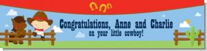 Little Cowboy - Personalized Baby Shower Banners
