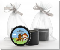 Little Cowboy - Baby Shower Black Candle Tin Favors