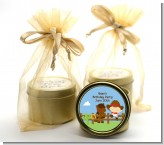 Little Cowboy - Baby Shower Gold Tin Candle Favors