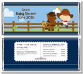 Little Cowboy - Personalized Baby Shower Candy Bar Wrappers