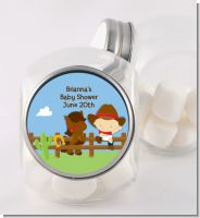 Little Cowboy - Personalized Birthday Party Candy Jar