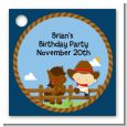Little Cowboy - Personalized Birthday Party Card Stock Favor Tags thumbnail