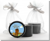 Little Cowboy Horse - Birthday Party Black Candle Tin Favors