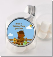 Little Cowboy Horse - Personalized Birthday Party Candy Jar