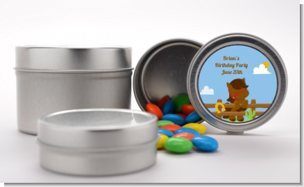 Little Cowboy Horse - Custom Birthday Party Favor Tins