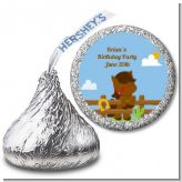 Little Cowboy Horse - Hershey Kiss Birthday Party Sticker Labels