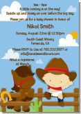 Little Cowboy - Baby Shower Invitations