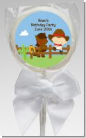 Little Cowboy - Personalized Birthday Party Lollipop Favors