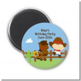 Little Cowboy - Personalized Baby Shower Magnet Favors